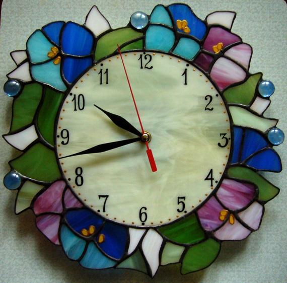 Как из стекла самому сделать часы настенные
