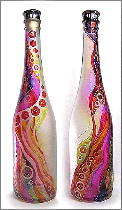 Декор бутылок своими руками красками витражными красками - ОФТ Медиа