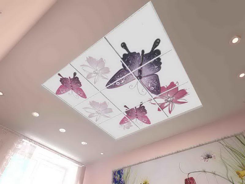 пласт панели с фотопечатью на потолок японские девушки ради